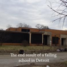The original Samuel Gompers Elementary School, 20601 Davidson, Detroit, Michigan Photo by: Cynthia Gladden